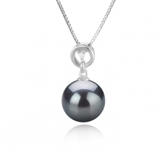 10-11mm AAA Quality Tahitian Cultured Pearl Pendant in Bonita Black