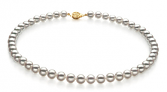 8-8.5mm Hanadama - AAAA Quality Japanese Akoya Cultured Pearl Necklace in Hanadama 18-inch White