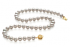 8-8.5mm Hanadama - AAAA Quality Japanese Akoya Cultured Pearl Necklace in Hanadama 16-inch White