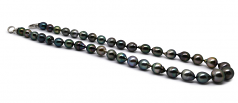 8-11mm Baroque Quality Tahitian Cultured Pearl Necklace in 17.5-inch Multicolour