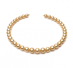 10.4-13.2mm AAA Quality South Sea Cultured Pearl Necklace in 18-inch Gold