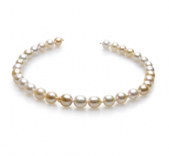 10-13mm Baroque Quality South Sea Cultured Pearl Necklace in 18-inch Multicolour