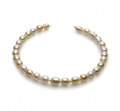 10.4-13mm Baroque Quality South Sea Cultured Pearl Necklace in 18-inch Multicolour