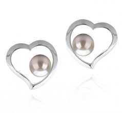 5-6mm AAAA Quality Freshwater Cultured Pearl Earring Pair in Nadira White