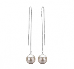 8-9mm AAAA Quality Freshwater Cultured Pearl Earring Pair in Dottie White