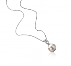 8-9mm AAAA Quality Freshwater Cultured Pearl Pendant in Nerea White