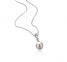 8-9mm AAAA Quality Freshwater Cultured Pearl Pendant in Kendra White