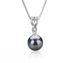 8-9mm AAAA Quality Freshwater Cultured Pearl Pendant in Kendra Black