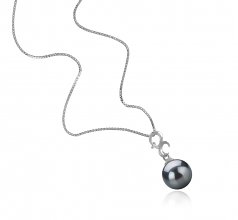 8-9mm AA Quality Japanese Akoya Cultured Pearl Pendant in Kacey Black