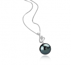 12-13mm AAA Quality Tahitian Cultured Pearl Pendant in Dixie Black