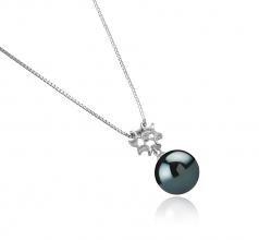 11-12mm AAA Quality Tahitian Cultured Pearl Pendant in Tatiana Black