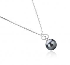 10-11mm AAA Quality Tahitian Cultured Pearl Pendant in Belinda Black