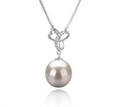 10-11mm AAAA Quality Freshwater Cultured Pearl Pendant in Dorothy White