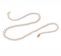 3.7-7.5mm AAA Quality Japanese Akoya Cultured Pearl Necklace in White