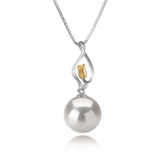 11-12mm AA+ Quality Freshwater - Edison Cultured Pearl Pendant in Caresse White