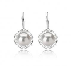 12-13mm AA+ Quality Freshwater - Edison Cultured Pearl Earring Pair in Edison Blenda White