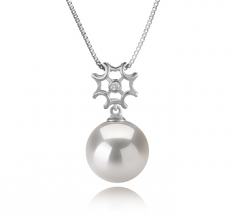 11-12mm AA+ Quality Freshwater - Edison Cultured Pearl Pendant in Tatiana White