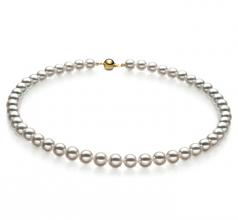 7.5-8mm Hanadama - AAAA Quality Japanese Akoya Cultured Pearl Necklace in Hanadama 16-inch White
