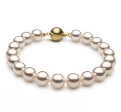 8.5-9mm Hanadama - AAAA Quality Japanese Akoya Cultured Pearl Bracelet in Hanadama 8-inch White