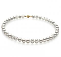 8-8.5mm Hanadama - AAAA Quality Japanese Akoya Cultured Pearl Necklace in Hanadama 18-inch White