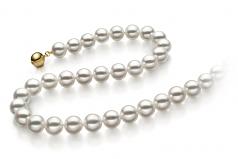 8-8.5mm Hanadama - AAAA Quality Japanese Akoya Cultured Pearl Necklace in Hanadama 16-inch White