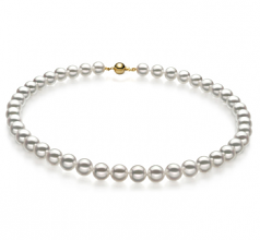 8-8.5mm Hanadama - AAAA Quality Japanese Akoya Cultured Pearl Necklace in Hanadama 23-inch White