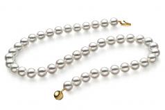 9-9.5mm Hanadama - AAAA Quality Japanese Akoya Cultured Pearl Necklace in Hanadama 16-inch White