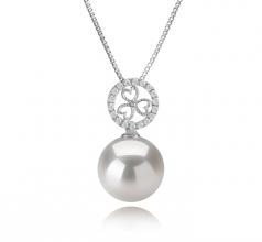 12-13mm AA+ Quality Freshwater - Edison Cultured Pearl Pendant in Klara White