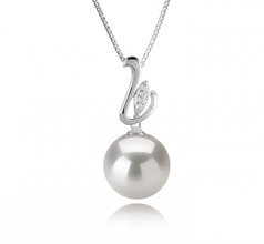 12-13mm AA+ Quality Freshwater - Edison Cultured Pearl Pendant in Dixie White