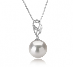 11-12mm AA+ Quality Freshwater - Edison Cultured Pearl Pendant in Moira White