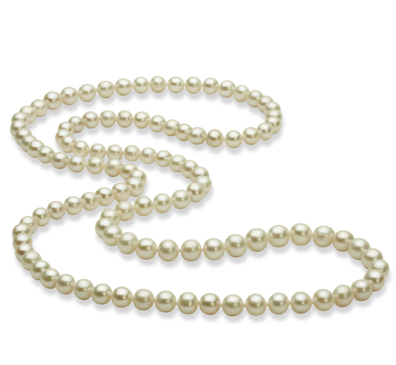 6-7mm AA Quality Freshwater Cultured Pearl Necklace in 30 inches White