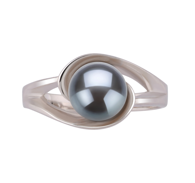 6-7mm AAA Quality Freshwater Cultured Pearl Ring in Clare Black