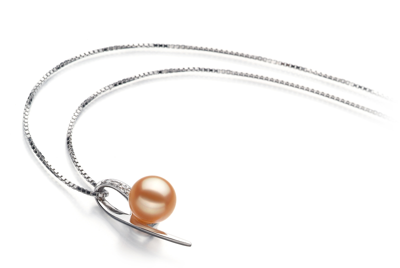 7-8mm AAAA Quality Freshwater Cultured Pearl Pendant in Destina Pink