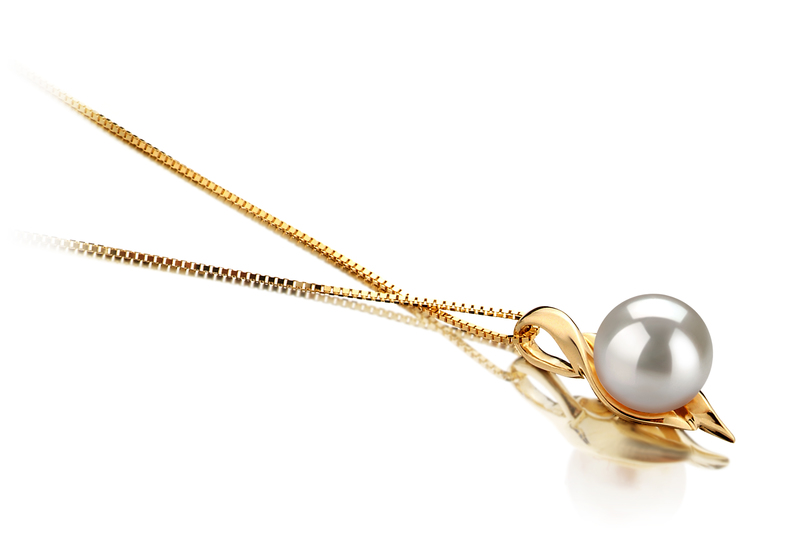 6-7mm AAA Quality Japanese Akoya Cultured Pearl Pendant in Dinah White
