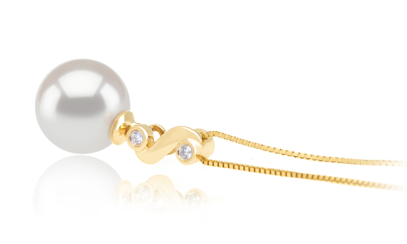 8-9mm AAA Quality Japanese Akoya Cultured Pearl Pendant in Gisela White