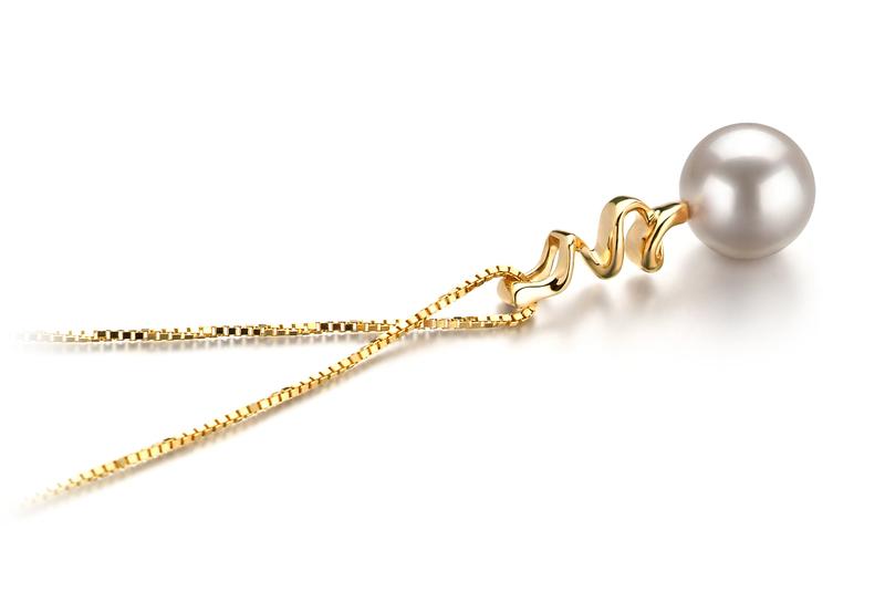 6-7mm AA Quality Japanese Akoya Cultured Pearl Pendant in Greta White