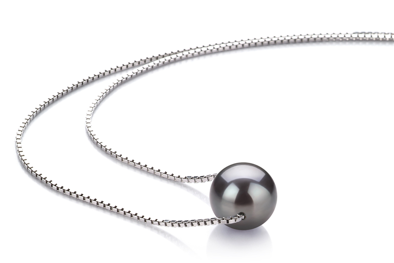Madison Black 8-9mm AA Quality Freshwater 925 Sterling Silver Pearl Pendant