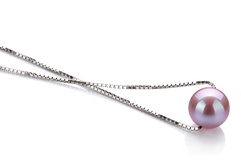 Madison Lavender 8-9mm AA Quality Freshwater 925 Sterling Silver Pearl Pendant