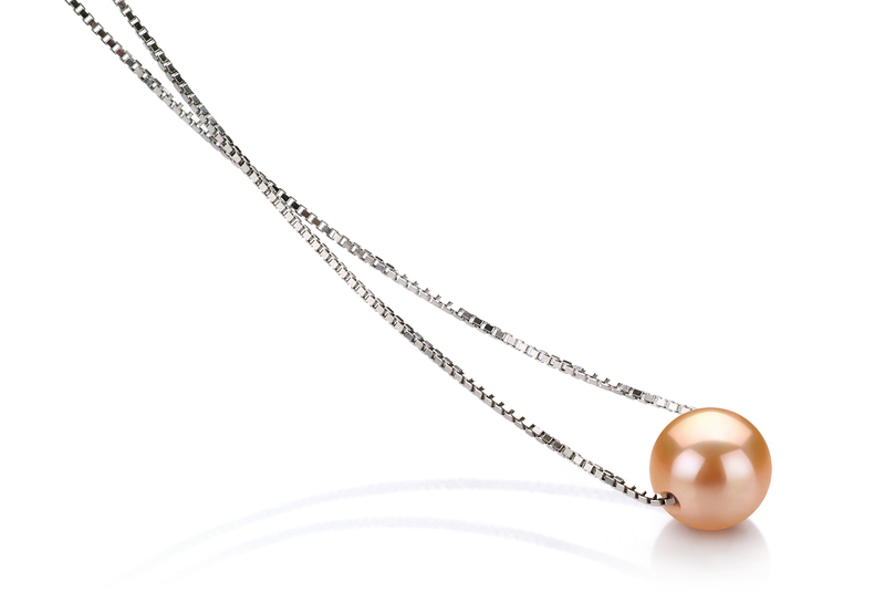 Madison Pink 8-9mm AA Quality Freshwater 925 Sterling Silver Pearl Pendant