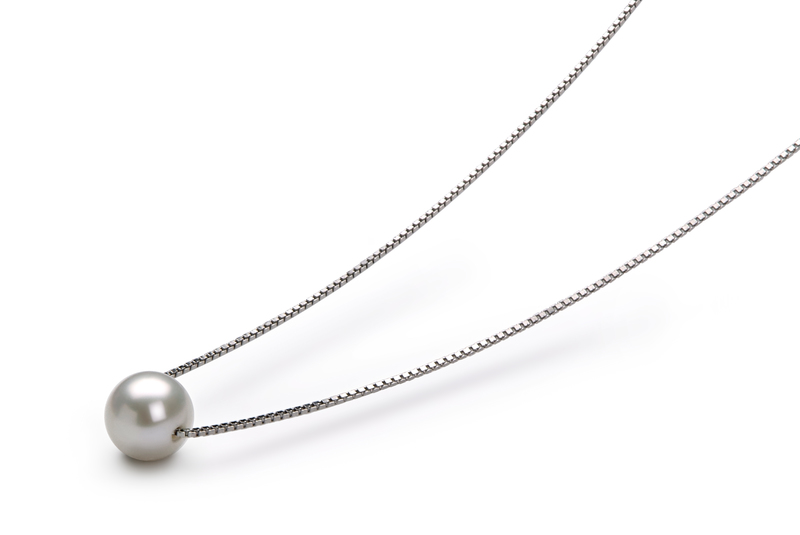 Madison White 8-9mm AA Quality Freshwater 925 Sterling Silver Pearl Pendant