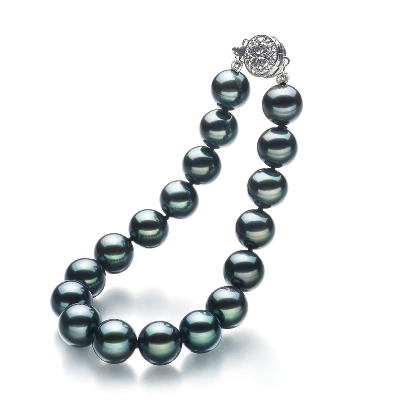 8-9mm AA Quality Japanese Akoya Cultured Pearl Bracelet in Black