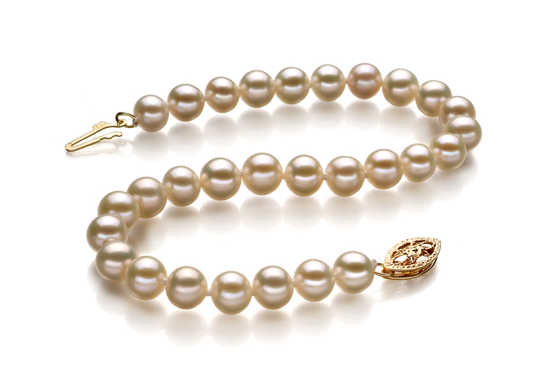 5-5.5mm AA Quality Freshwater Cultured Pearl Bracelet in White