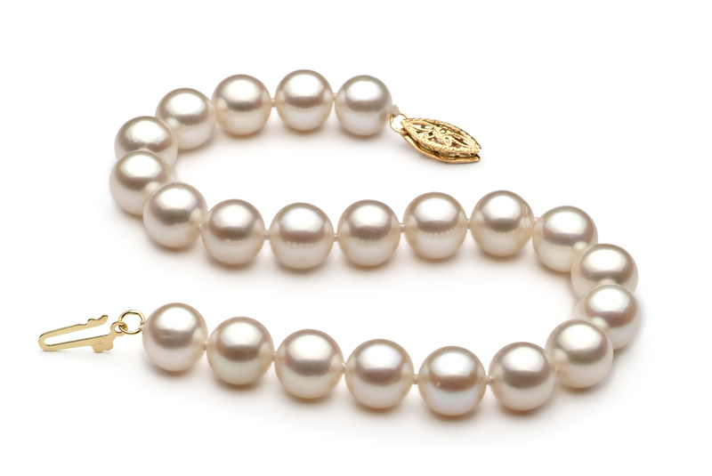 7.5-8.5mm AA Quality Freshwater Cultured Pearl Bracelet in White