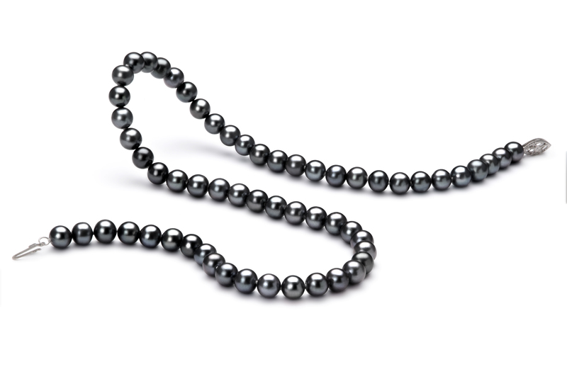 6-7mm AA Quality Freshwater Cultured Pearl Necklace in Black