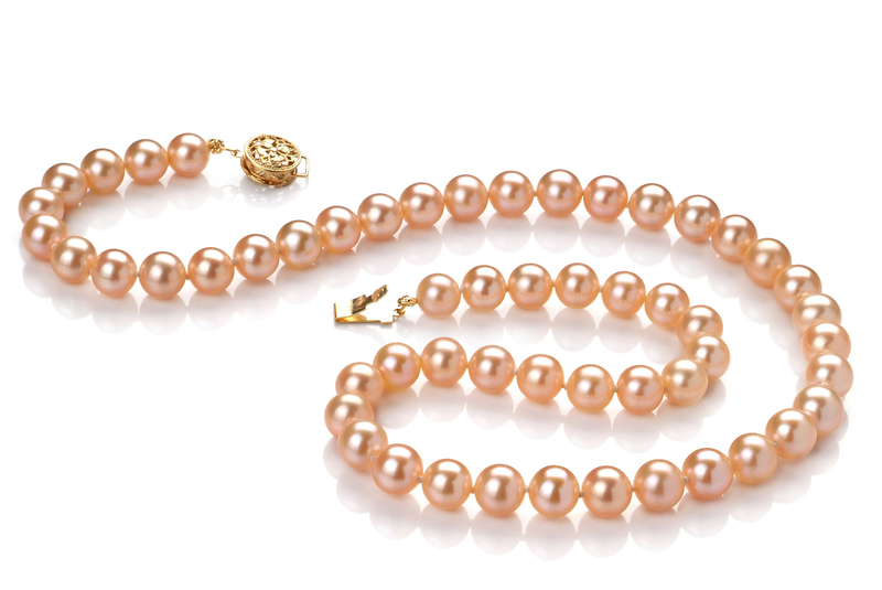6-6.5mm AAAA Quality Freshwater Cultured Pearl Necklace in Pink