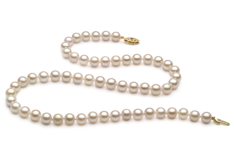 6-7mm AA+ Quality Chinese Akoya Cultured Pearl Necklace in White