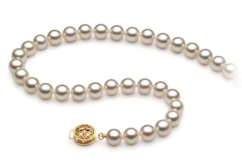 6.5-7mm AAA Quality Japanese Akoya Cultured Pearl Necklace in White