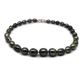 9-13mm Baroque Quality Tahitian Cultured Pearl Necklace in 17-inch Multicolour