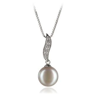 9-10mm AA Quality Freshwater Cultured Pearl Pendant in Alicia White