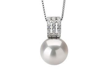 12-13mm AA+ Quality Freshwater - Edison Cultured Pearl Pendant in Angie White